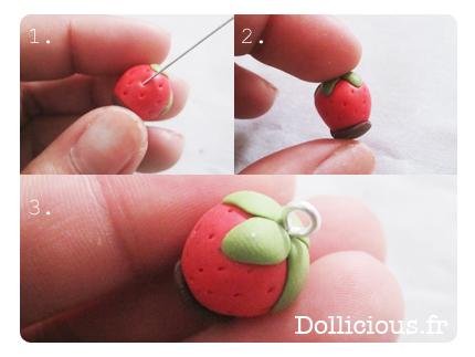 Tuto fimo fraise